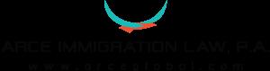 Arce immigration logo white