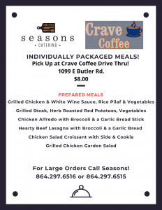 Seasons Take-Out Meals