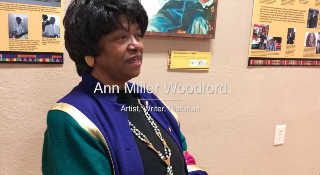 Ann Miller Woodford at the Murphy Art Center in Murphy NC