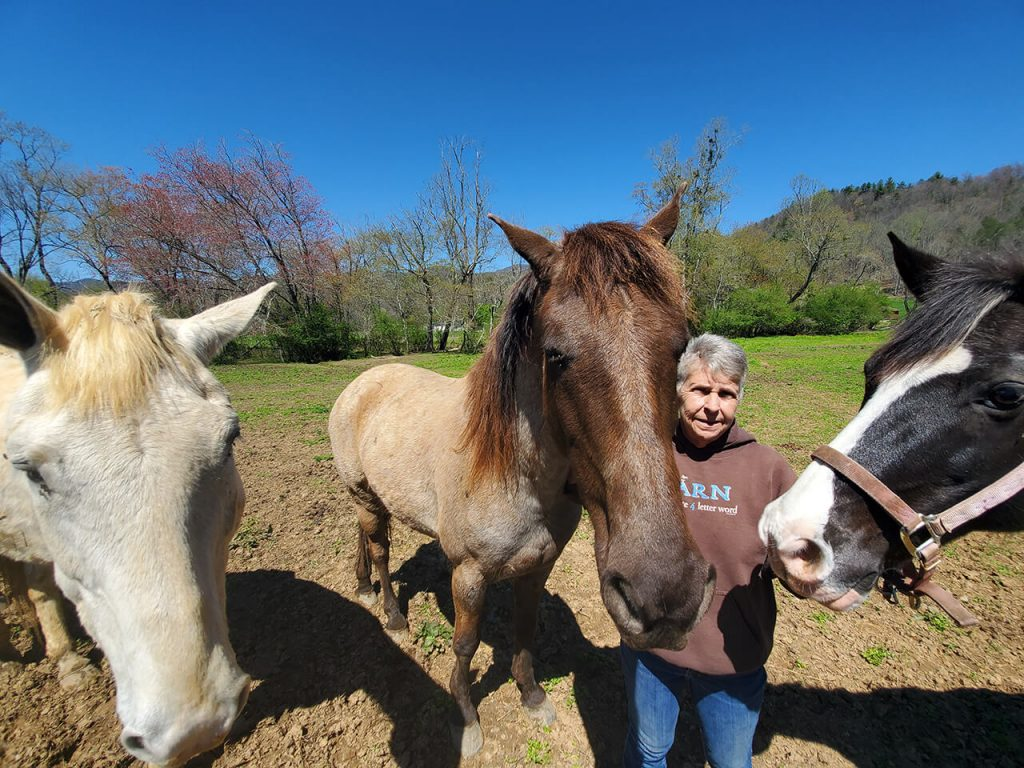 Dana Luther, owner of Horseshoe Creek Riding Stables, in Murphy NC