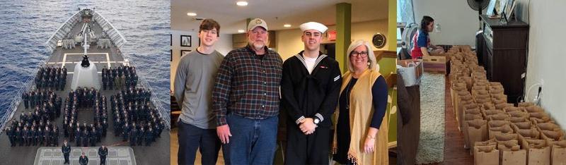 USS San Jacinto, Jake Hinke and Family, Volunteers
