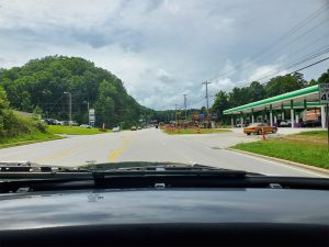 Starting the Hiwassee Loop road trip on Rt 64 in Murphy, NC