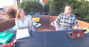 Sherry Raines and Tim Radford host the Cherokee County Chamber's 1st Virtual After Hours