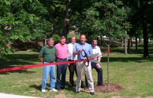 Columbia Park Tree Planting Ribbon Cutting