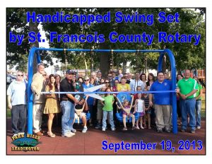 St. Francois County Rotary Handicapped Swing Set