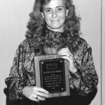Bonnie Carroll Receiving the 1988 Watson Davis Award