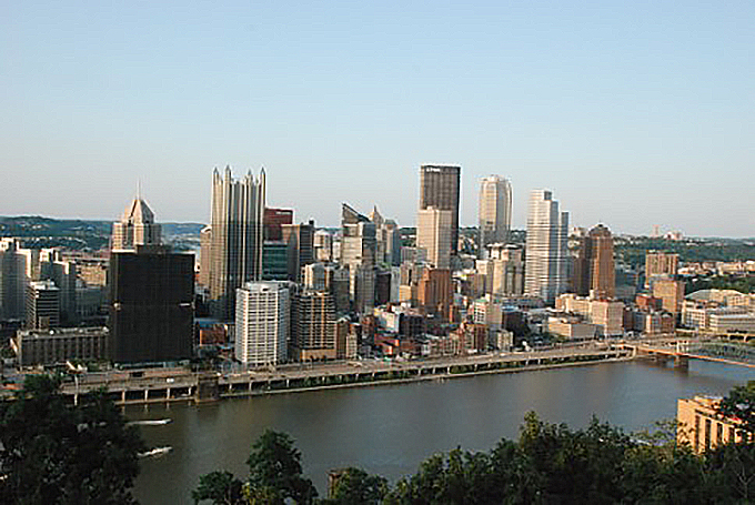 View of Pittsburgh from Grandview Overlook.