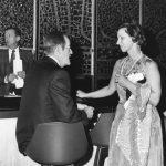 Pauline Atherton, with Senator Hubert Humphrey