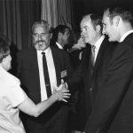 Phyllis Baxendale, Douglas Engelbart, Sen. Hubert H. Humphrey, Charles Bourne