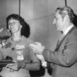 Pauline Atherton, President, with Robert Kyle, incoming president