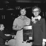 Phyllis Richmond, receiving Award of Merit from Pauline Atherton