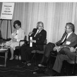 Plenary speakers, Arthur Miller (center)