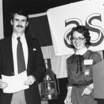 David Bair, receiving award from Linda Smith The award was Best JASIS Paper for 1980
