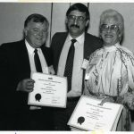 Glenn Wilde, Roy Tally, Barbara Flood, receiving SIG-of-the-Year Award (Behavioral and Social Sciences)