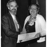 James Rush, Margaret Adams, receiving Best Chapter or SIG Publication Award