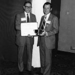 Laurence Heilprin, Mel Day (Heilprin receiving 1976 ASIS Award of Merit)