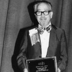 Simon (Si) Newman receiving Watson Davis Award at ASIST '77