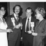 Sue Martin and Brett Butler (co-chairs of 1976 conference), Mel Day (incoming ASIS president)