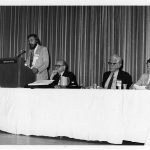 Oettinger , Edwin Parker, Bell, Cairns, Mel Day (keynote panelists l to r)