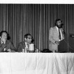 Eugene Garfield, Oettinger, Edwin Parker (keynote panelists)