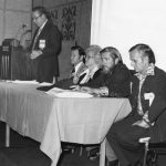 Dale Baker, Mel Day, Joe Ann Clifton, Frank Slater, Doug Price. 1975 Annual Business Meeting