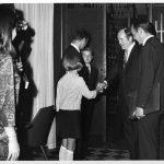 Senator Humbert Humphrey, Charles Bourne (back to camera)