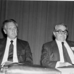 Robert Chartrand (l), Rep. George Brown