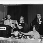 Charles P. Bourne, Eugene Garfield, [unidentified woman], Mary Herner, Herbert Koller (l-r), Mel Weinstock (rear)