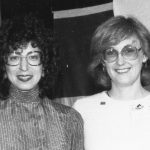Donna Rubens, Trudi Bellardo Rubens is receiving the Best Student Paper Award, 1982
