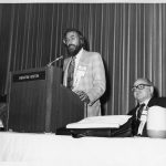 Edwin Parker (at podium)