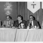 Donald W. King (c), Bahaa El-Hadidy (second from r), Eugene Garfield (r)