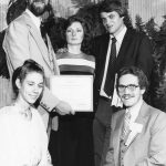 Debora (ralf) Shaw, Robert Tannehill, Toni Carbo Bearman, Ward Shaw, Nolan Pope SIG of the Year, 1980 (SIG/LAN)