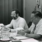Joshua Smith, Herbert S. White at Council meeting. Smith was Executive Director; White was ASIS President