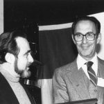 Edmond Sawyer receiving Watson Davis Award from Gerard Platau