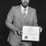 William Stow receiving 1978 NPM Award