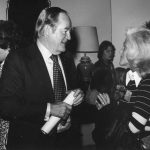 Senator Hubert H. Humphrey talking to Susan Artandi