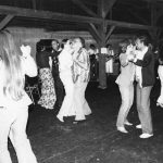 Bonnie Carroll (back to camera), Herb White, Trudi Bellardo, Bahaa El-Hadidy Dancing and music in the barn