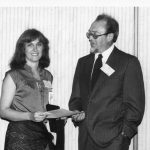 Trudi Bellardo, Wilf Lancaster Lancaster is receiving 1980 Information Science Teacher of the Year Award