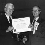 Fred Kilgour, James Cretsos Jim Cretsos presents 1979 Award of Merit to Fred Kilgour