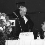 Fred Kilgour, James Cretsos Kilgour receiving 1979 Award of Merit