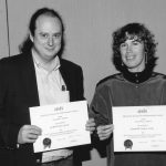 Clifford Lynch, Elizabeth Liddy 1988 Doctoral Forum winners