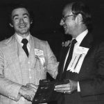 Herbert Landau presenting gavel to James Cretsos