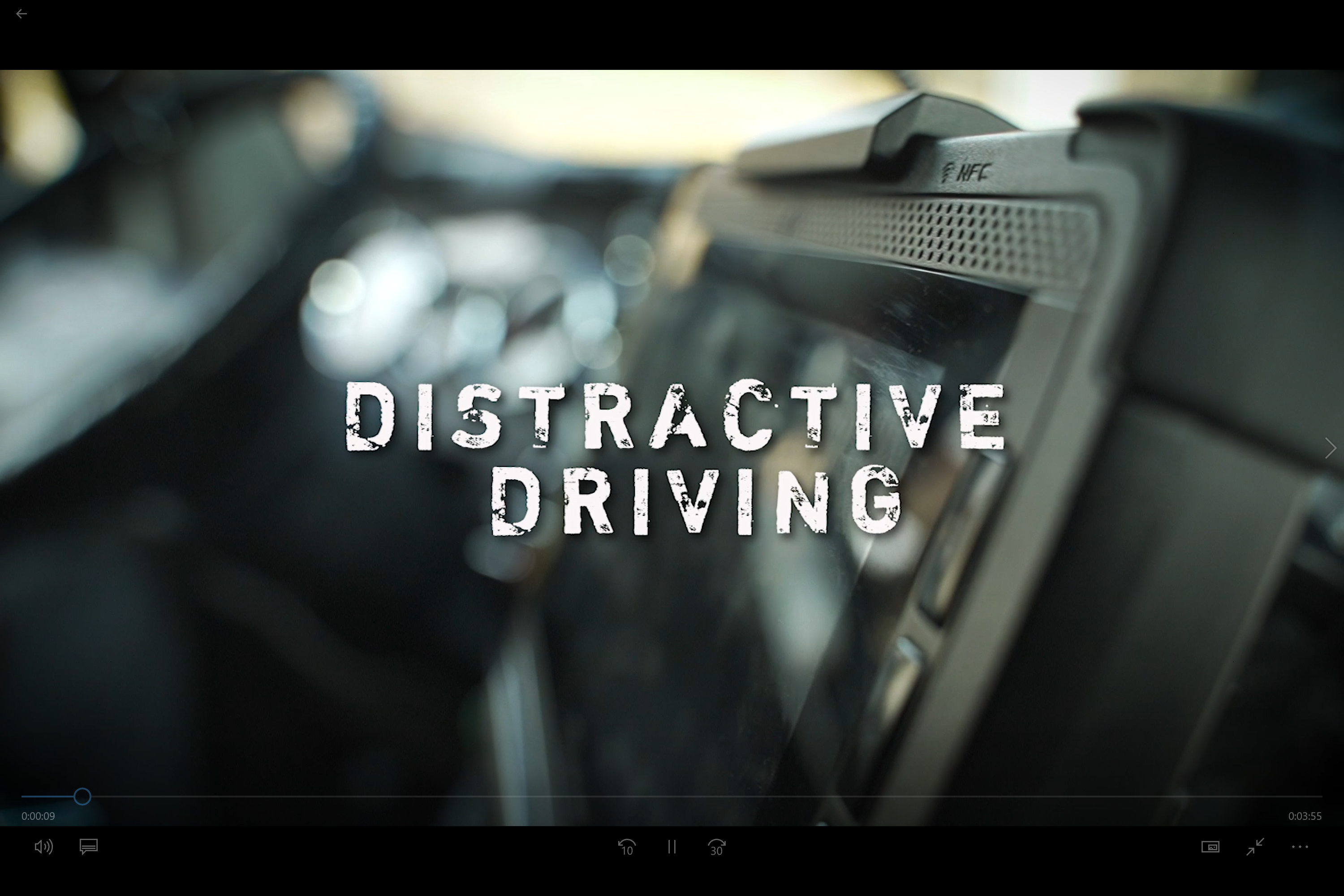 Video of NC Road Team Captain Sadler on Distractive Driving