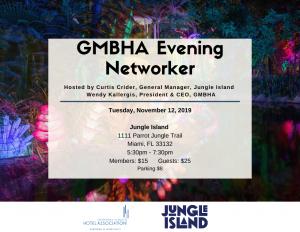 GMBHA Evening Networker at Jungle Island 11.12.2019
