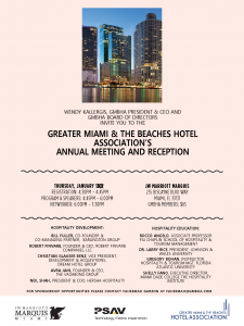 GMBHA Annual Meeting at JW Marriott Marquis