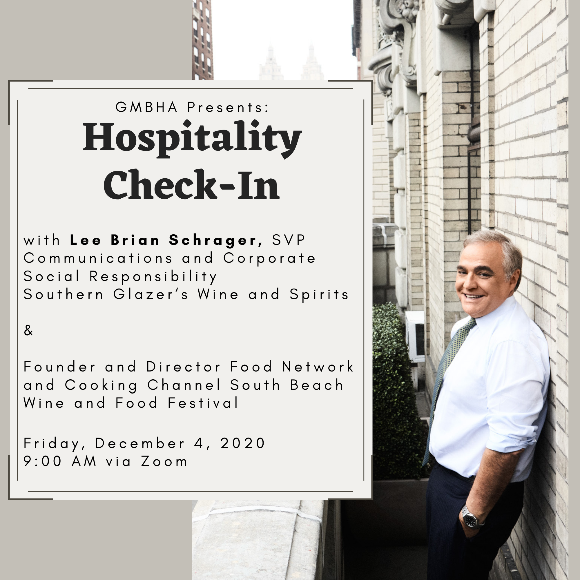 Hospitality Check-In with Lee Schrager