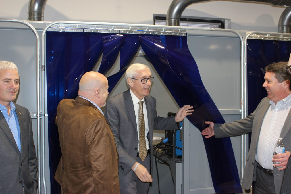SMART Training School Tour - Governor Evers - Welding Booth