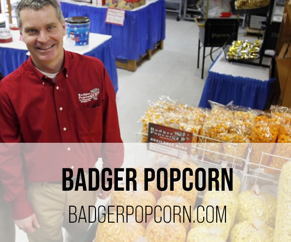 badger popcorn button