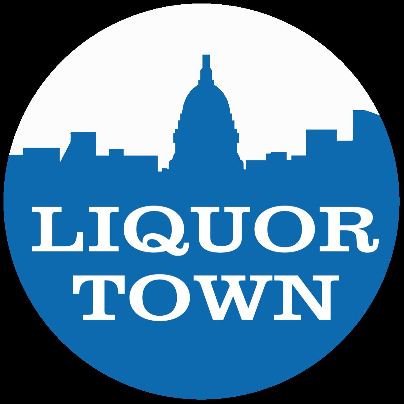 liquor town logo circle
