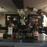 Trophy enjoing wine flight night